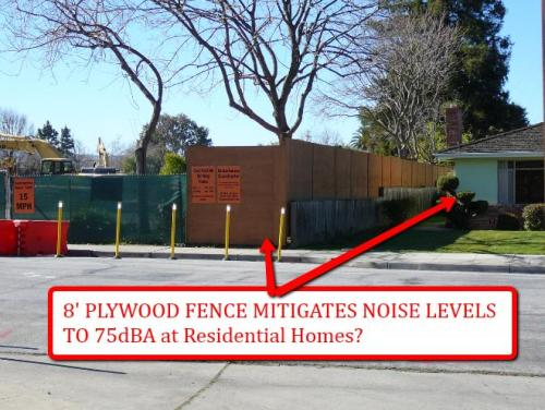 PAMF Plywood Fence Noise Barrier Adequate?