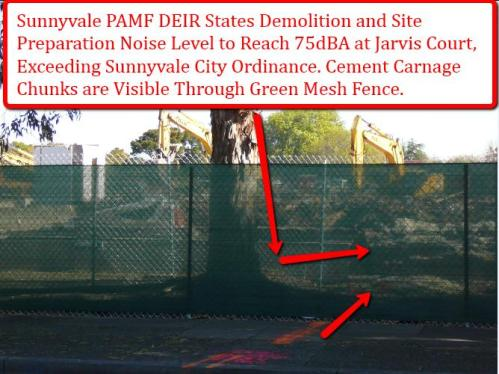 Sunnyvale PAMF Demolition to reach 75dBA