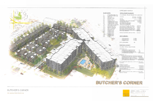 Butchers Corner Project Illustration submitted to City of Sunnyvale